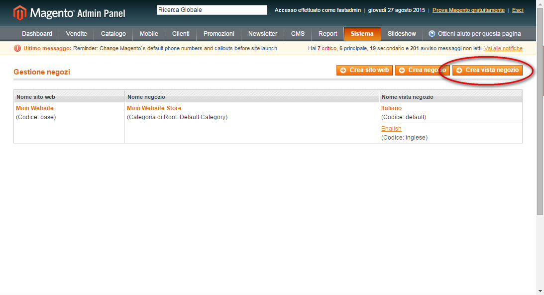 Magento Multilanguage Store